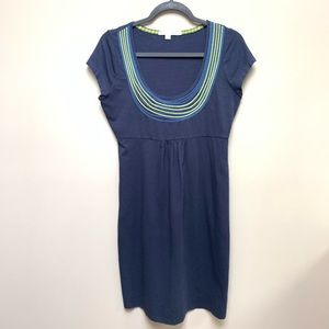 Boden Embroidered Necklace Dress WH506 8R